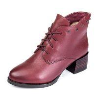 Senda/森达专柜同款牛皮女靴3PP18DD5
