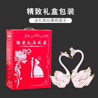 摆件家居饰品欧式客厅摆件陶瓷 新婚礼品送闺蜜浪漫个性结婚礼物