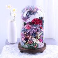 情人节礼物永生花玻璃罩玫瑰花干花保鲜花创意礼品生日礼物送女友惊喜的创意节日礼品