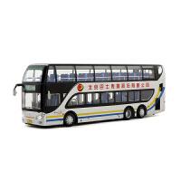 1:64原厂汽车模型 北京巴士公交亚星双层客车公交模型 特10路 特10路 鲁谷公交站场-国防大学