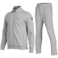 运动服套装男秋冬长袖卫衣开衫外套休闲跑步健身长裤训练服防风两件套