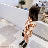 冬季女童毛衣套装裙2018新款潮童装韩版儿童针织毛衣半身裙短裙两件套秋冬新款 褐色 套装