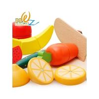 儿童切水果玩具切乐组切合套装宝宝木制磁性可切的水果蔬菜女孩