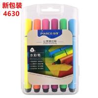 MARCO马可4630儿童三角粗杆水彩笔可水洗涂鸦彩笔12色24色36色