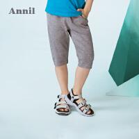 【3件3折:65.7】安奈儿童装男童七分休闲运动裤夏装新款