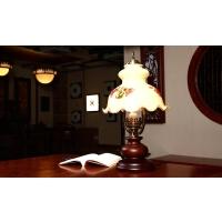 复古实木民国 中式书房客厅卧室床头宾馆装饰台灯
