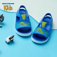 Skechers斯凯奇男小童凉鞋卡通套脚松紧带防滑运动鞋92116N