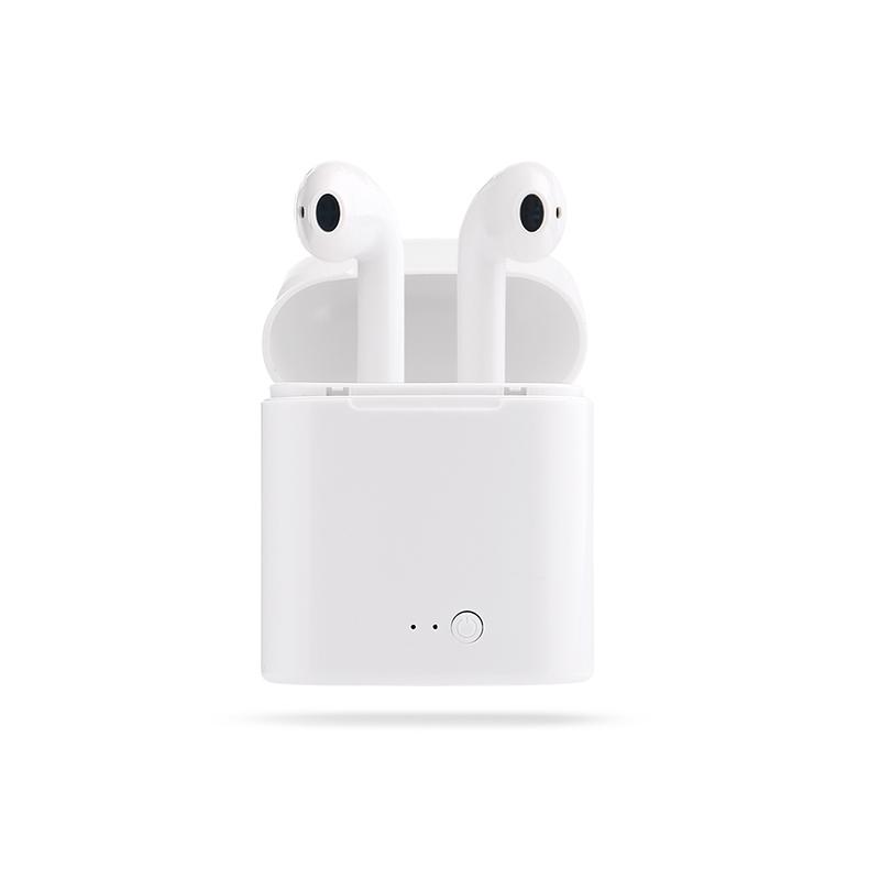 i7苹果无线运动蓝牙耳机 iPhone 华为 小米 oppo X8手机通用 迷你入耳式隐形双耳塞女 开车可接电话 双耳无线 带充电仓 安卓苹果通用