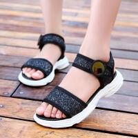 女童凉鞋夏季公主凉鞋儿童女鞋亮片夏款女孩休闲运动凉鞋
