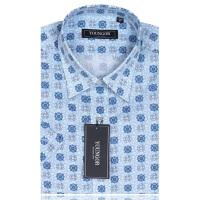 YOUNGOR雅戈尔男装 商务休闲 男士 全棉印花蓝朵 短袖衬衫  SXX13804-22