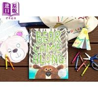 【中商原版】熊来了 Bear Came Along 2020凯迪克银奖 儿童幽默友谊主题故事绘本睡前阅读 精装 英文原版