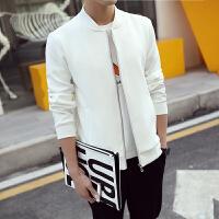 男士夹克衫韩版修身时尚短款休闲外套男装春秋季青年棒球服薄