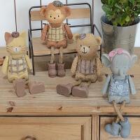美式乡村吊脚娃娃家居客厅装饰品摆件创意儿童房电视柜摆设礼物