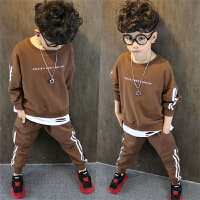 男童运动套装儿童卫衣裤新款春装中大童两件套童装潮