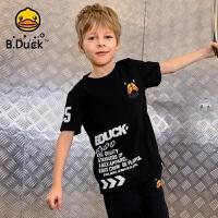 【4折价:95.6】B.duck小黄鸭童装男童短袖t恤夏季儿童宽松打底衫BF2001925