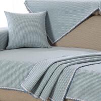 皮沙发垫坐垫布艺沙发巾套罩四季通用全棉棉加厚防滑