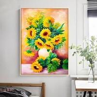 钻石画2018新款植物花小幅向日葵满钻手工贴钻十字绣卧室简约现代