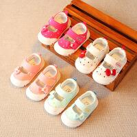春夏女宝宝布鞋婴儿学步鞋公主鞋女童单鞋幼儿鞋子