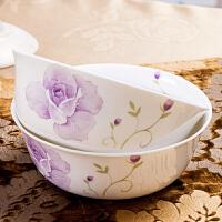 【当当自营】SKYTOP斯凯绨 陶瓷骨瓷餐具 香水百合6英寸面碗(4个装)