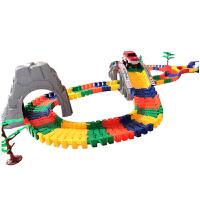 五彩博乐园轨道汽车 轨道拼搭玩具 儿童益智玩具