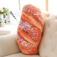 仿真面包抱枕靠垫腰靠办公室靠背腰枕汽车沙发床头靠枕长枕头