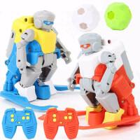 童励 智能遥控亲子足球对战机器人电动儿童男孩桌面上玩具新年礼物 二人对战升级充电装 现货速发