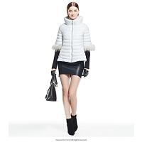 艾莱依韩版收腰A型立领短款羽绒服女ERAL2010D