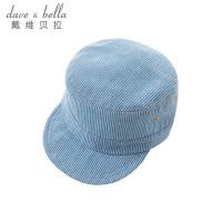 davebella戴维贝拉春季新款男宝宝纯棉条纹鸭舌帽DBA6340-H