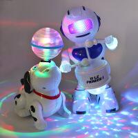 会唱歌跳舞小狗玩具发光电动打鼓机器人婴儿男孩1-2-3岁女宝宝