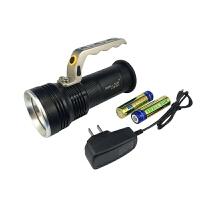 强光手电筒手提式探照灯强光充电手电筒狩猎远光灯标配