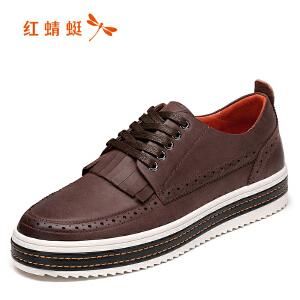 红蜻蜓男鞋休闲皮鞋秋冬休闲鞋子男WTA6800