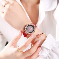 韩版女士手表时尚2019新款网红抖音星空潮流韩版简约休闲大气学生手表