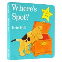 【中商原版】spot 小波系列英文原版 Where's Spot小玻在哪里 低幼幼儿启蒙 儿童纸板翻翻书 Eric Hi