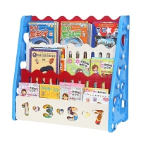 图书架小孩简易书柜 儿童书架宝宝绘本架 幼儿园塑料