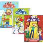 英文原版 Tiny Geniuses 1-3 天才科学小子 3册合售 小学生课外桥梁章节书 儿童课外阅读小说