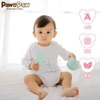 【520儿童节 2件4折 到手价:103 】PawinPaw卡通小熊童装新款美国棉新生儿连体衣男女婴三角爬