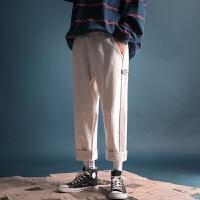 秋冬季新款复古加厚灯芯绒宽松直筒休闲裤韩版免烫男士潮流长裤子