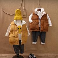秋冬新款儿童韩版羽绒棉马甲男女童立领加厚外穿背心宝宝保暖坎肩