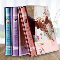 爱情纪念册4R像册 牵手情侣相册影集大6寸相册本8寸插页式家庭混装