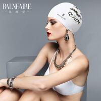 范德安防水护耳硅胶抗氯泳帽女专业长发大号不勒头印花温泉游泳帽