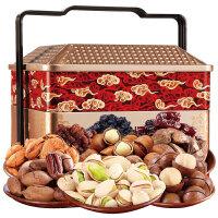 臻味 坚果干果礼盒 每日坚果 休闲零食炒货 原料进口坚果果干大礼包环球果园1550g
