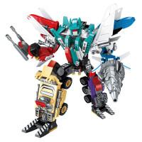 儿童拼装变形机器人战神金刚�犯呋�木益智玩具男孩新年礼物