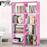 门扉 简易书架 简易书架多功能简易书柜 创意自由组合置物架加固储物收纳柜子