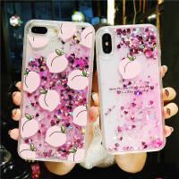 流沙苹果7/8plus手机壳iPhone6s/x保护套7p硅胶全包防摔6SP女款潮