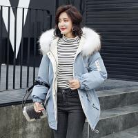 大毛领羽绒服女短款韩版冬装修身收腰白鸭绒小个子外套潮