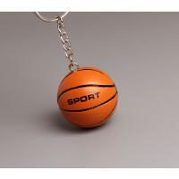 篮球钥匙挂件篮球足球钥匙扣排球小挂件体育运动小饰品公司活动小礼品创意礼品 大号篮球 光面带字