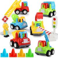 儿童玩具车小汽车婴儿宝宝惯性工程车套装男孩大号耐摔回力车卡车