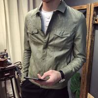 新款秋冬款男士皮衣时尚绣花个性机车款皮夹克青少年修身皮褂子