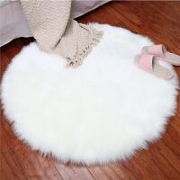 现代简约圆形地毯电脑椅子地毯仿羊毛地垫吊篮地毯卧室地毯长毛绒 1