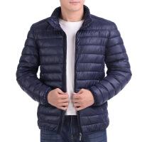冬季青年男棉衣轻薄款棉袄中年男装爸爸装中老年外套厚羽绒棉